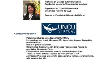 Curso a distancia Uso de la Plataforma Virtual UNCUVirtual