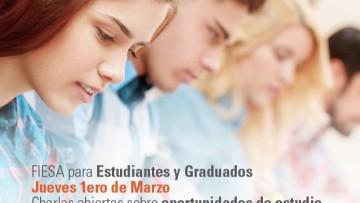 Charlas sobre oportunidades internacionales para estudiantes y egresados.