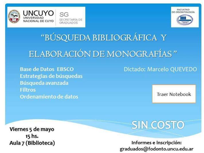Búsqueda Bibliográfica y Elaboración de Monografías